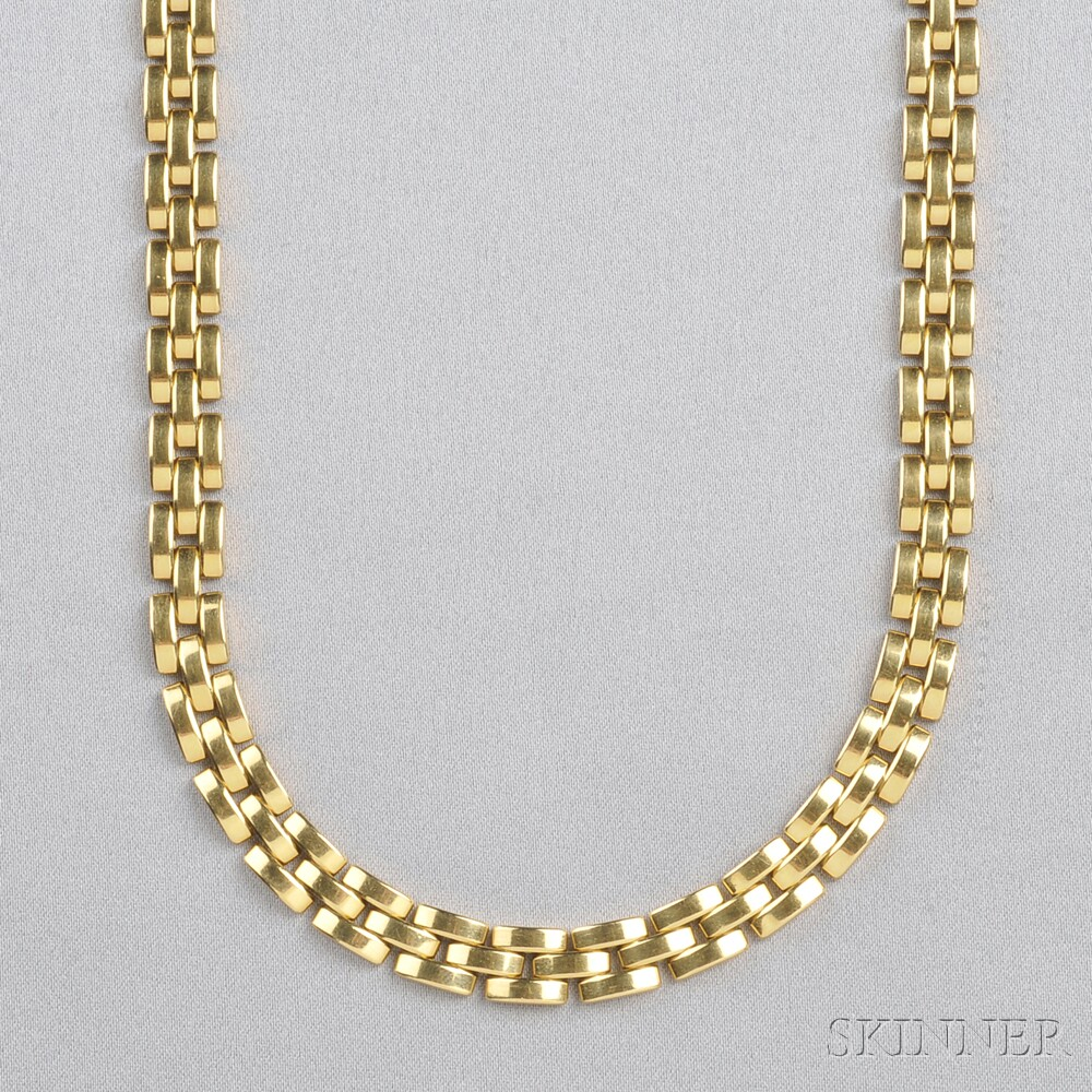 """18kt Gold """"Panthere"""" Necklace, Cartier"""