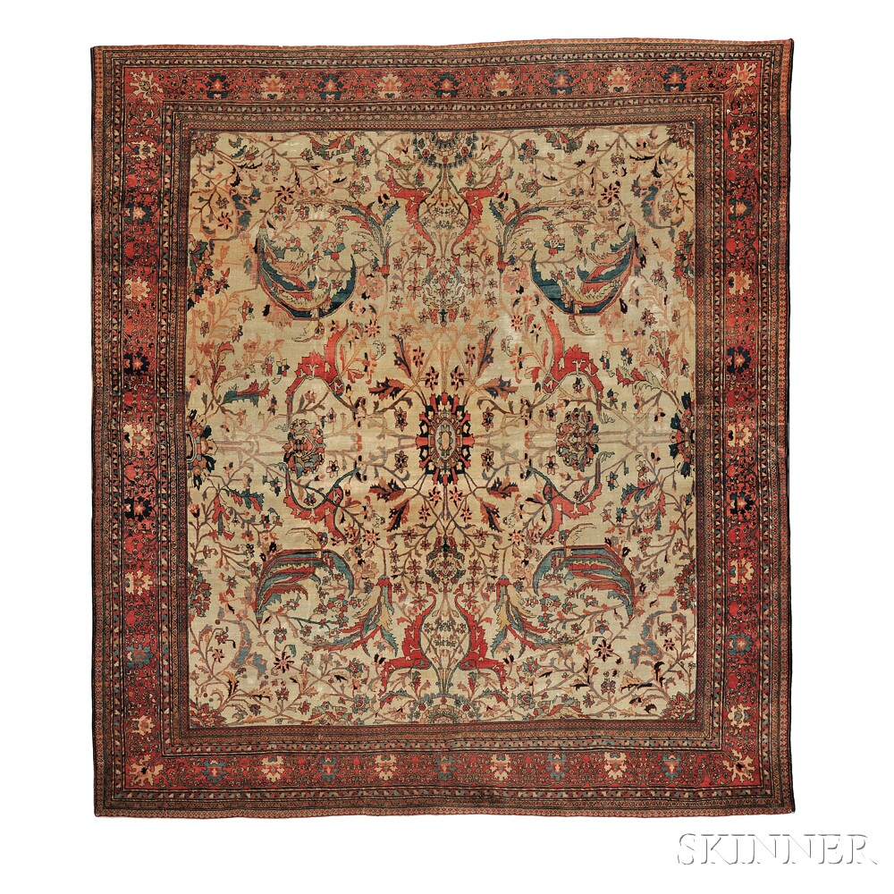 Antique Fereghan Sarouk Carpet Sale Number 2752b Lot