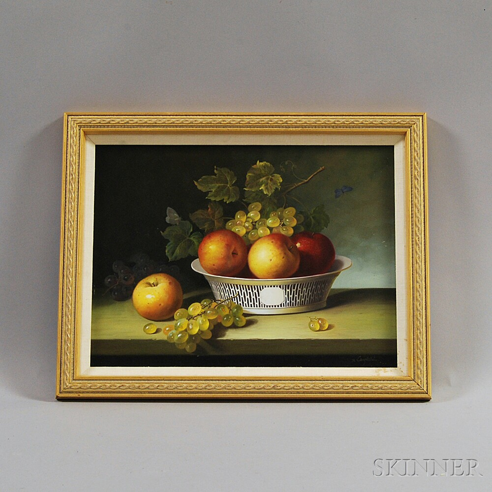R. Caspers (American, 20th Century)       Apples and Grapes.