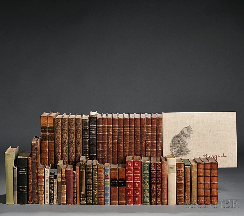 Mixed Lot Including Decorative Bindings and Rare Books.