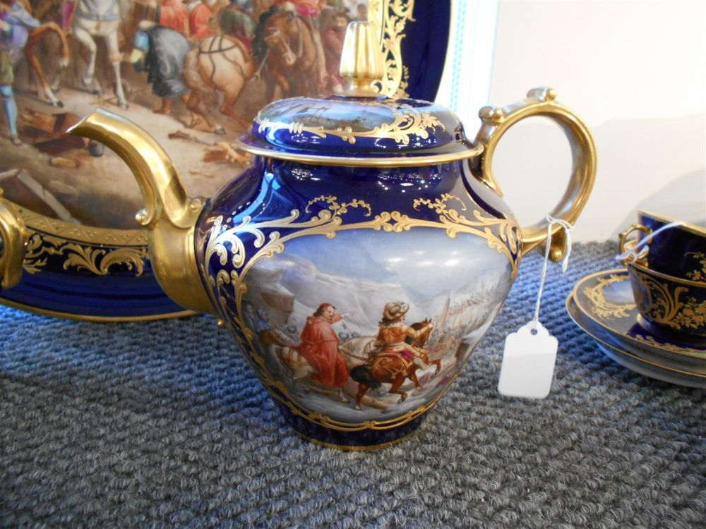 Sevres-style Porcelain Tea Service with Tray