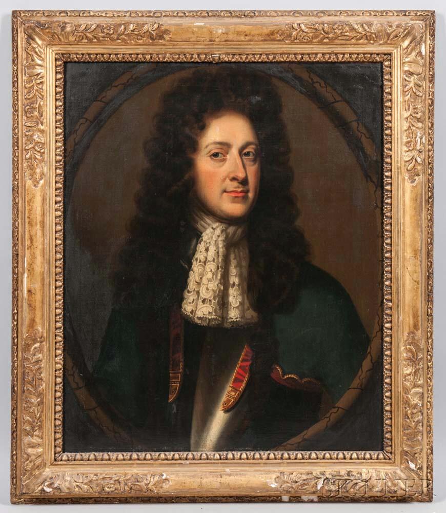 School of Godfrey Kneller (British, 1646-1723)      Portrait of James II of England