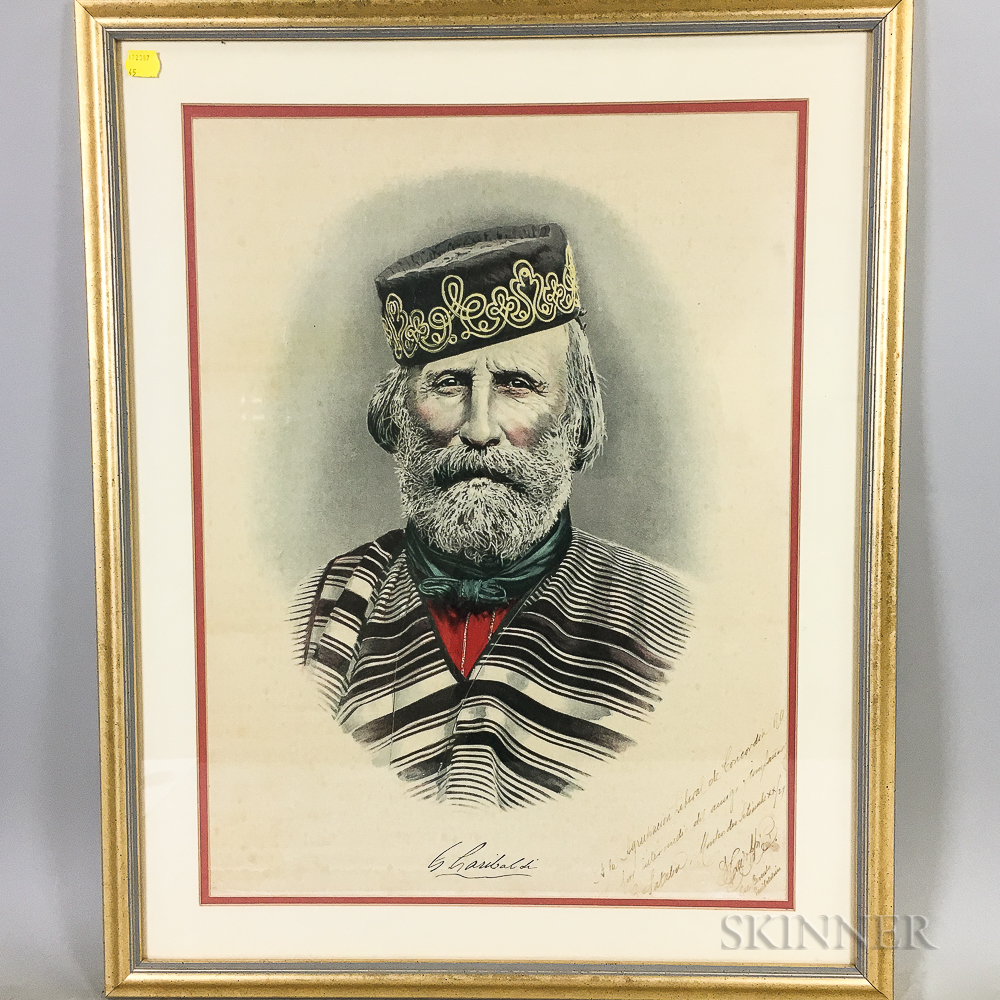 Italian or Argentine School, 20th Century      Portrait of Giuseppe Garibaldi
