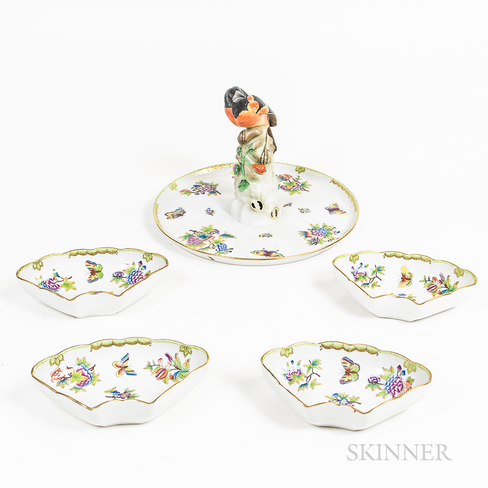 """Herend """"Victoria"""" Pattern Porcelain Serving Tray"""