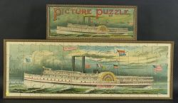 "McLoughlin ""City of Worcester"" Ship Picture Puzzle in Two Parts"