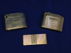 Tiffany 14kt Gold Money Clip and Two 14kt Gold Ronson Lighters.