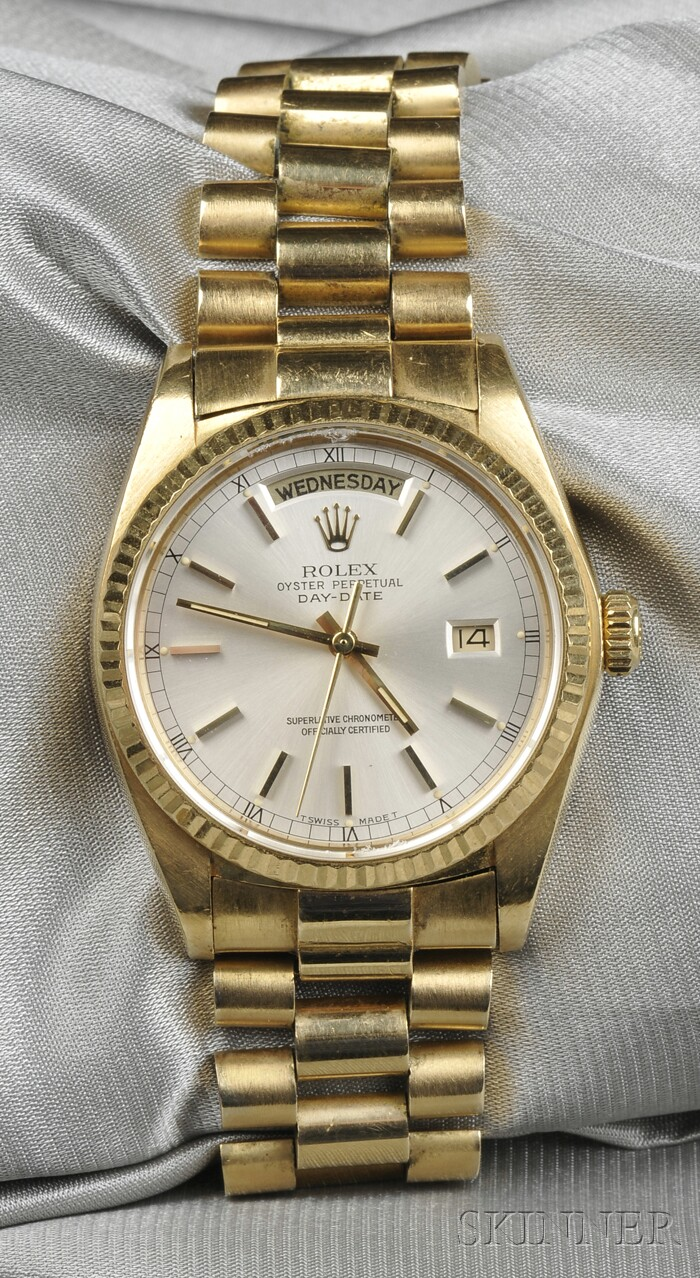 18kt Gold Wristwatch, Rolex