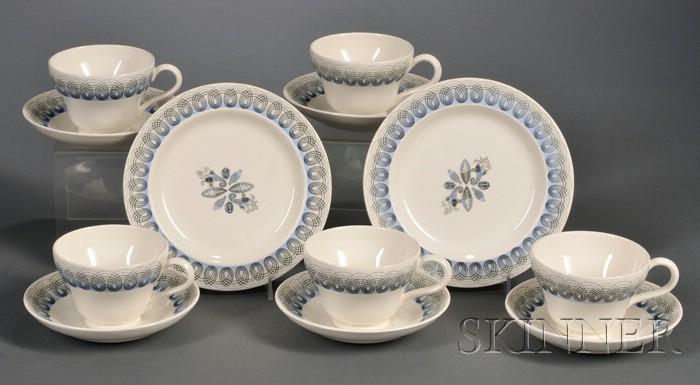 Seven Wedgwood Eric Ravilious Designed Items