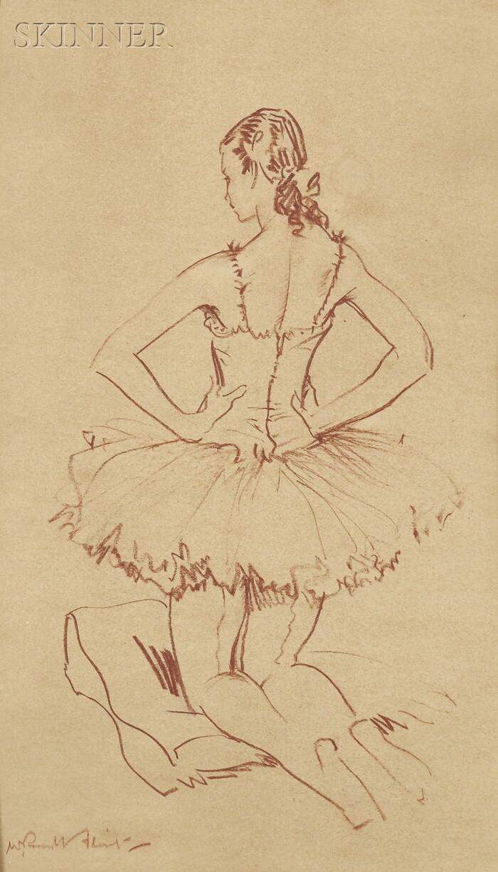 Sir William Russell Flint (British, 1880-1969)      Portrait of a Ballerina