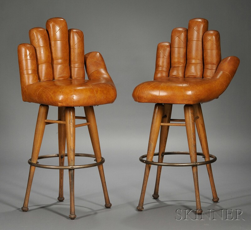 Pair of Baseball-inspired Collectable Stools