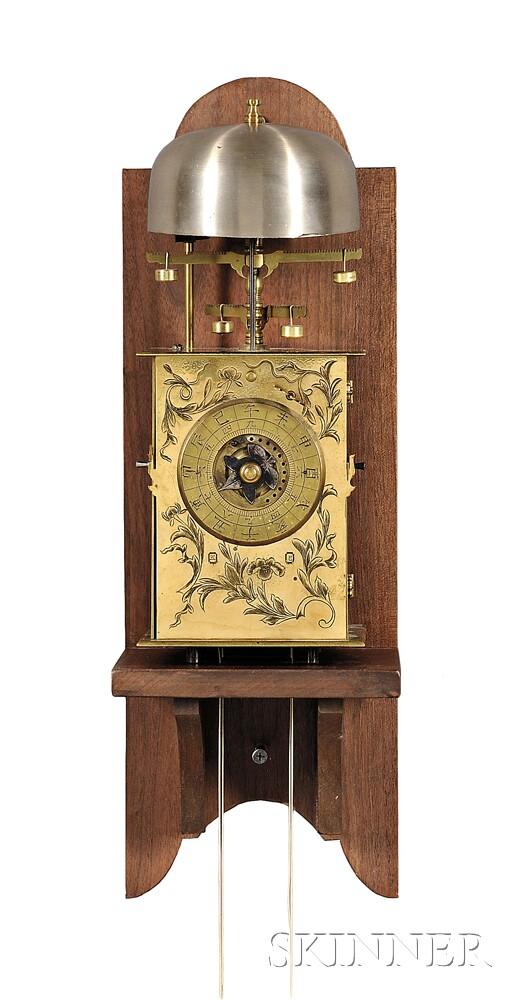 Japanese Double Foliot Yagura Dokei Clock