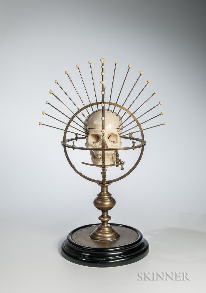 C.F.H. Heineman Lacquered Brass Craniometer