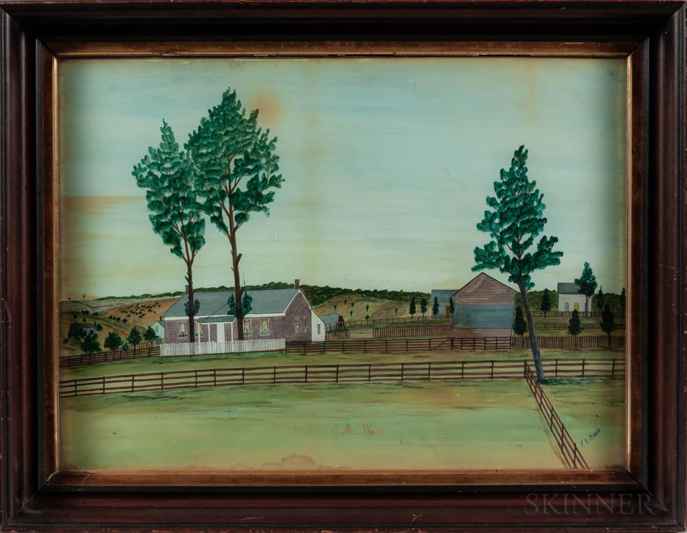 American School, Late 19th Century      Residence of Mrs. Wann, Mifflin, Iowa Co. Wi.