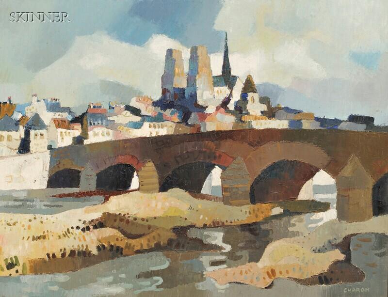 Guy Charon (French, b. 1927)      Pont-Rouen