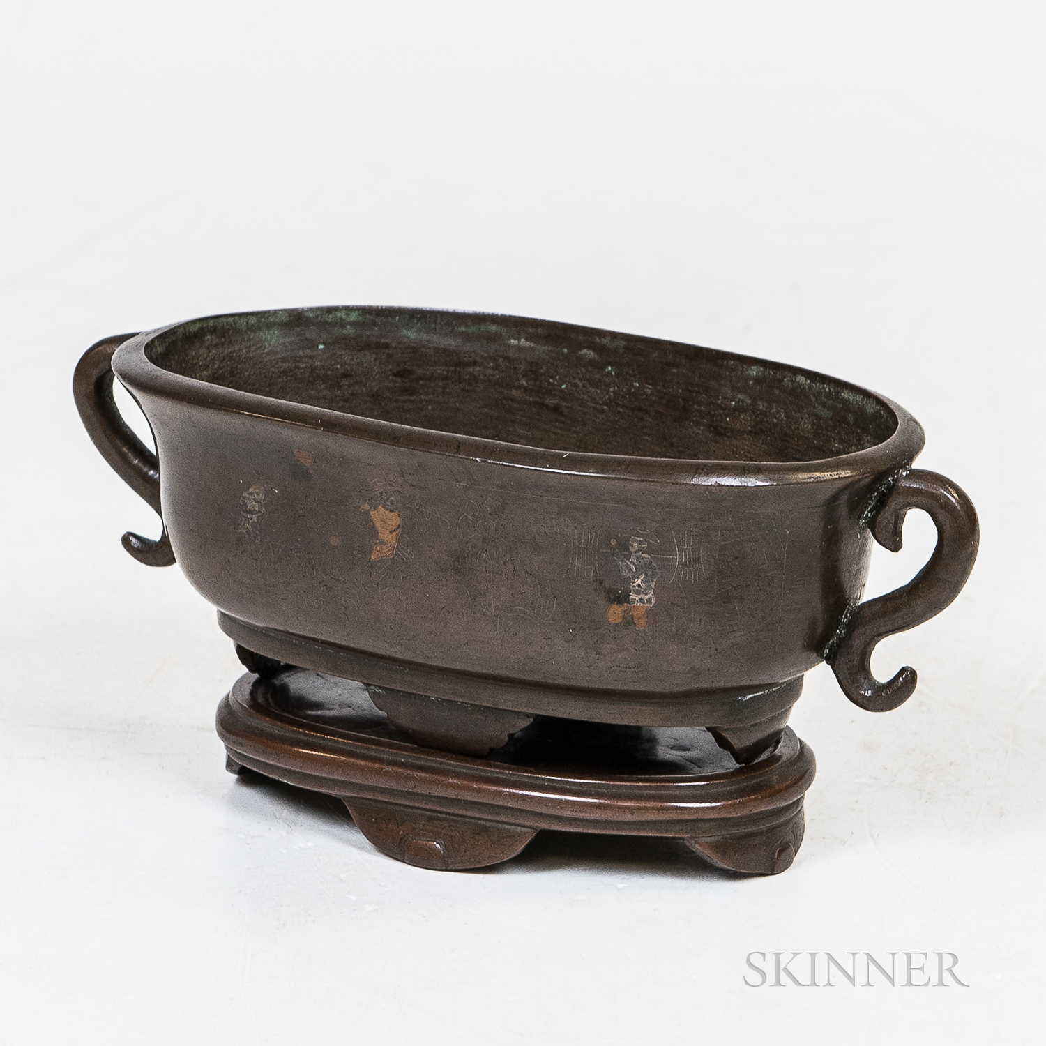 Bronze Censer and Stand