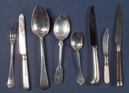 Assembled Set of English Silver Flatware