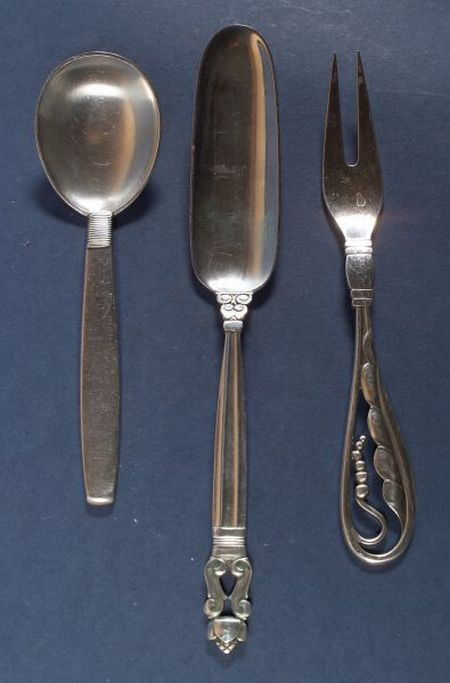 Three Danish Sterling Flatware Items