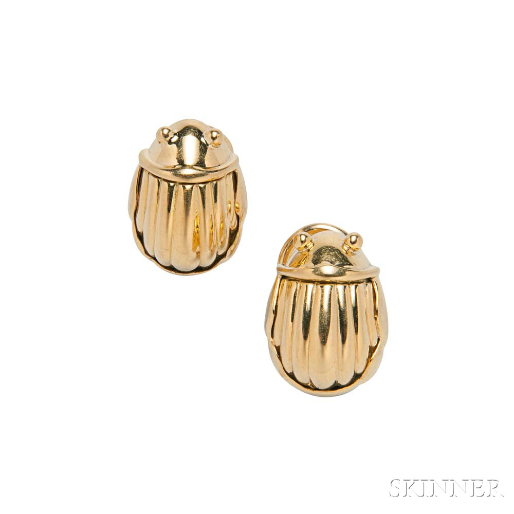 18kt Gold Earrings, Tiffany & Co.