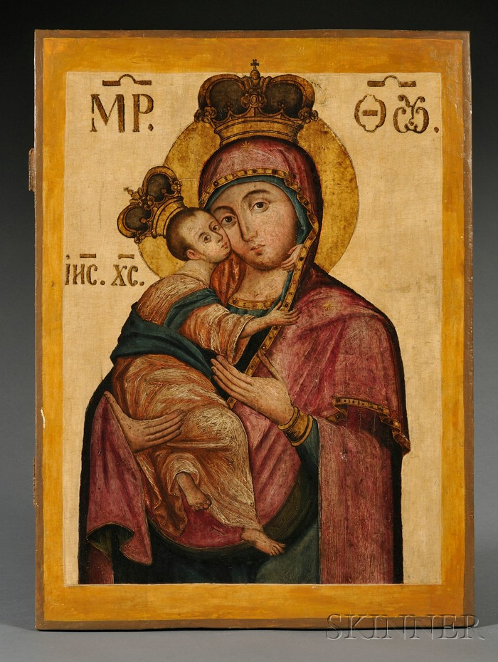Russian Icon of the Vladimir Mother of God