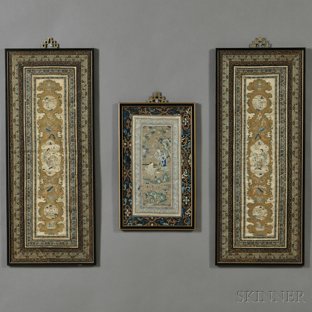Three Framed Textile Panels