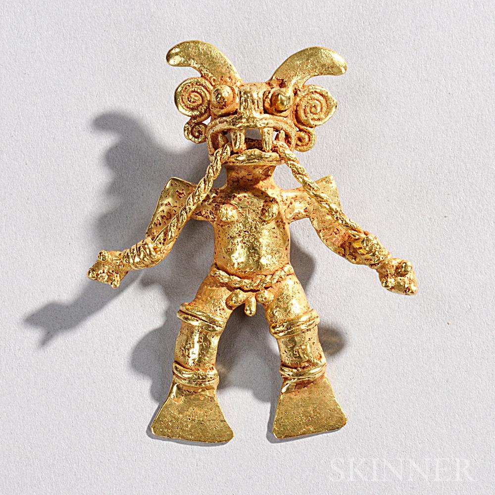 Pre-Columbian Gold Shaman Figure
