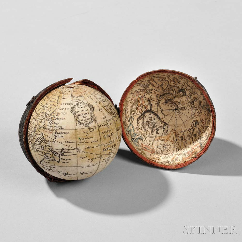 Nathaniel Hill 2 1/2-inch Pocket Globe