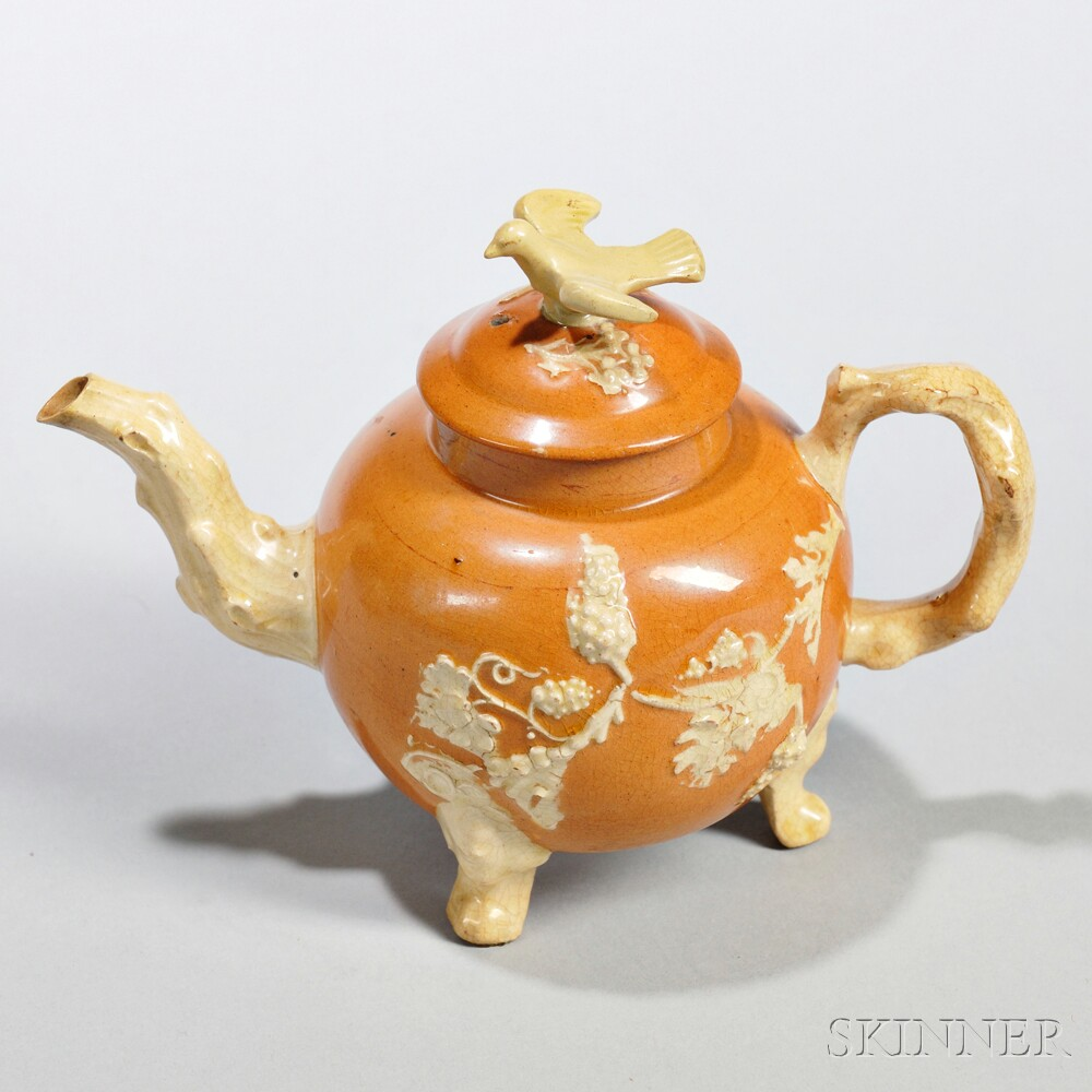 Red Earthenware Teapot and Cover