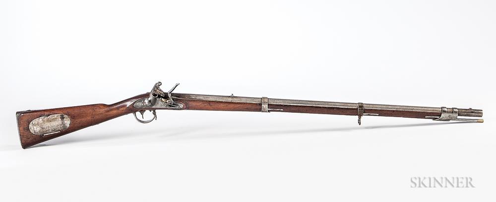 Reconverted Model 1817 U.S. Flintlock Rifle