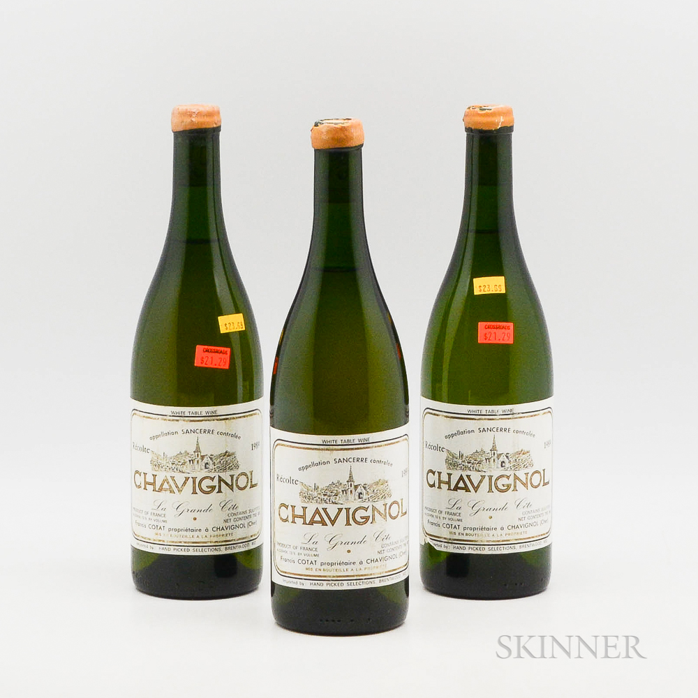 Francis Cotat Chavignol La Grande Cote 1989, 3 bottles