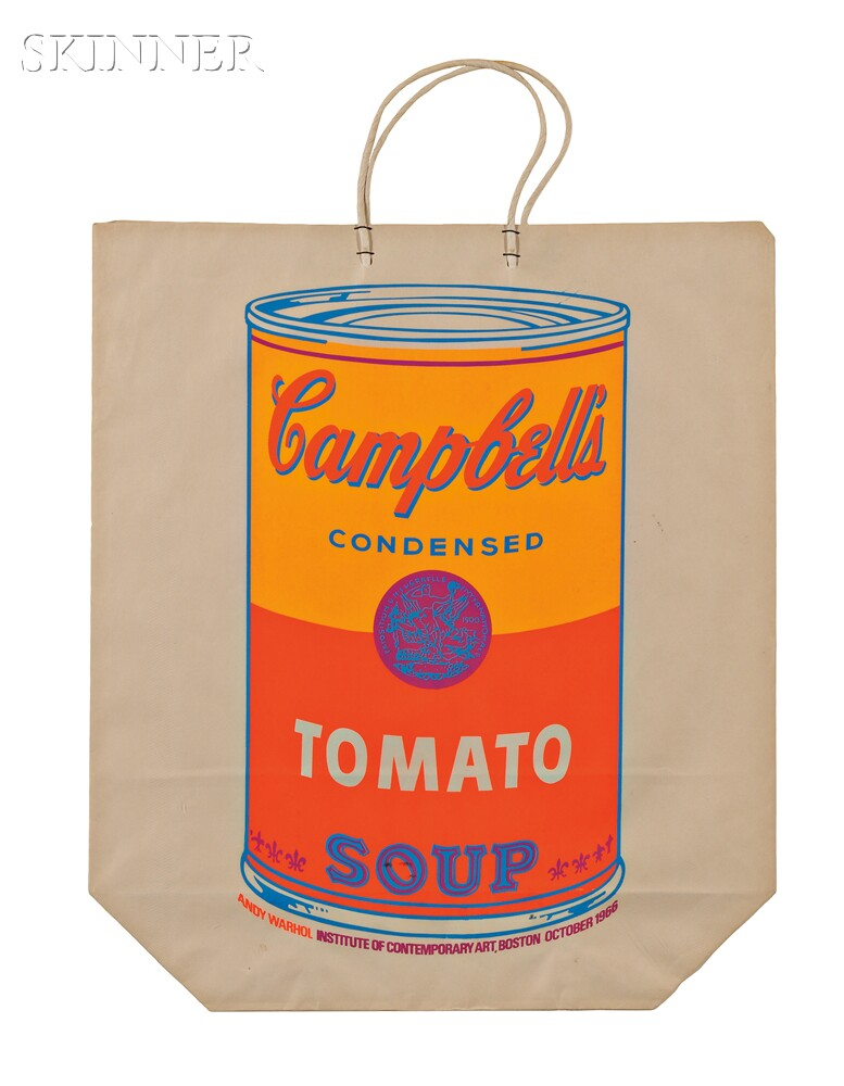 Andy Warhol (American, 1928-1987)      Campbell's Soup Can on Shopping Bag
