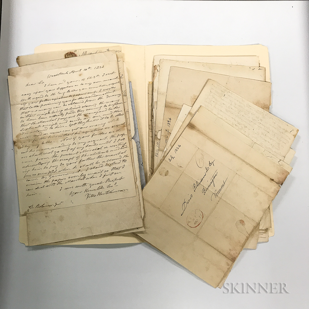 Group of 18th and 19th Century Letters and Documents,