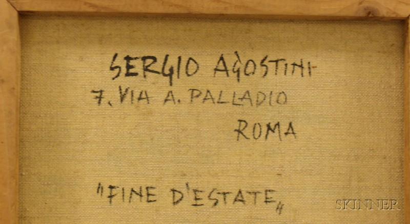 Sergio Agostini (Italian, b. 1921)    Fine D'Estate