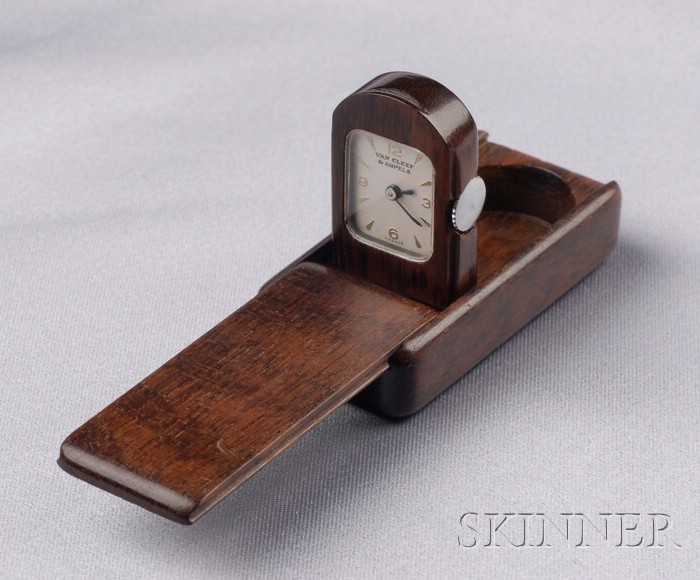 Exotic Wood Purse Watch, Van Cleef & Arpels,