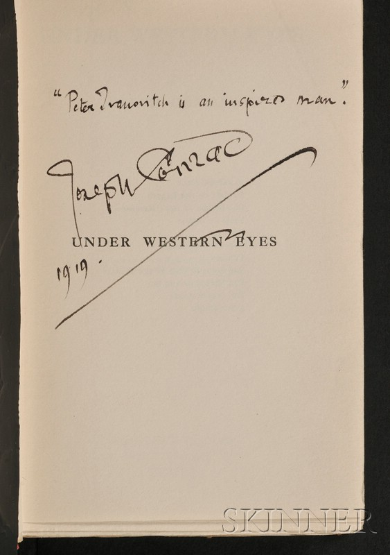 Conrad, Joseph (1857-1924), Signed copy