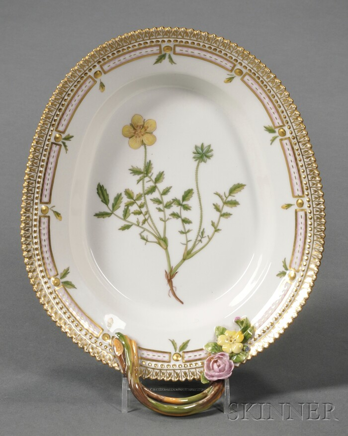 """Royal Copenhagen Porcelain """"Flora Danica"""" Serving Dish"""