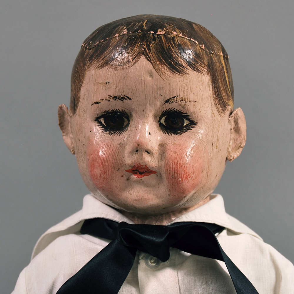 Alabama Molded Cloth Head Boy Doll