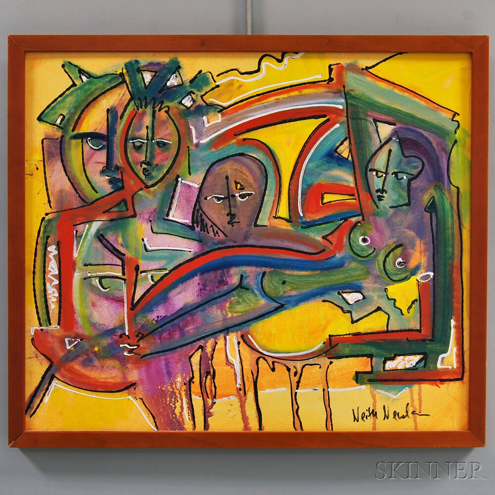 Neith Nevelson (American, b. 1946)      Figure Group with Reclining Nude.