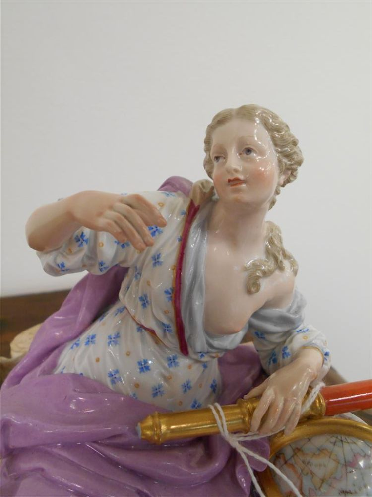 Meissen Mythological Figural Group with Globe