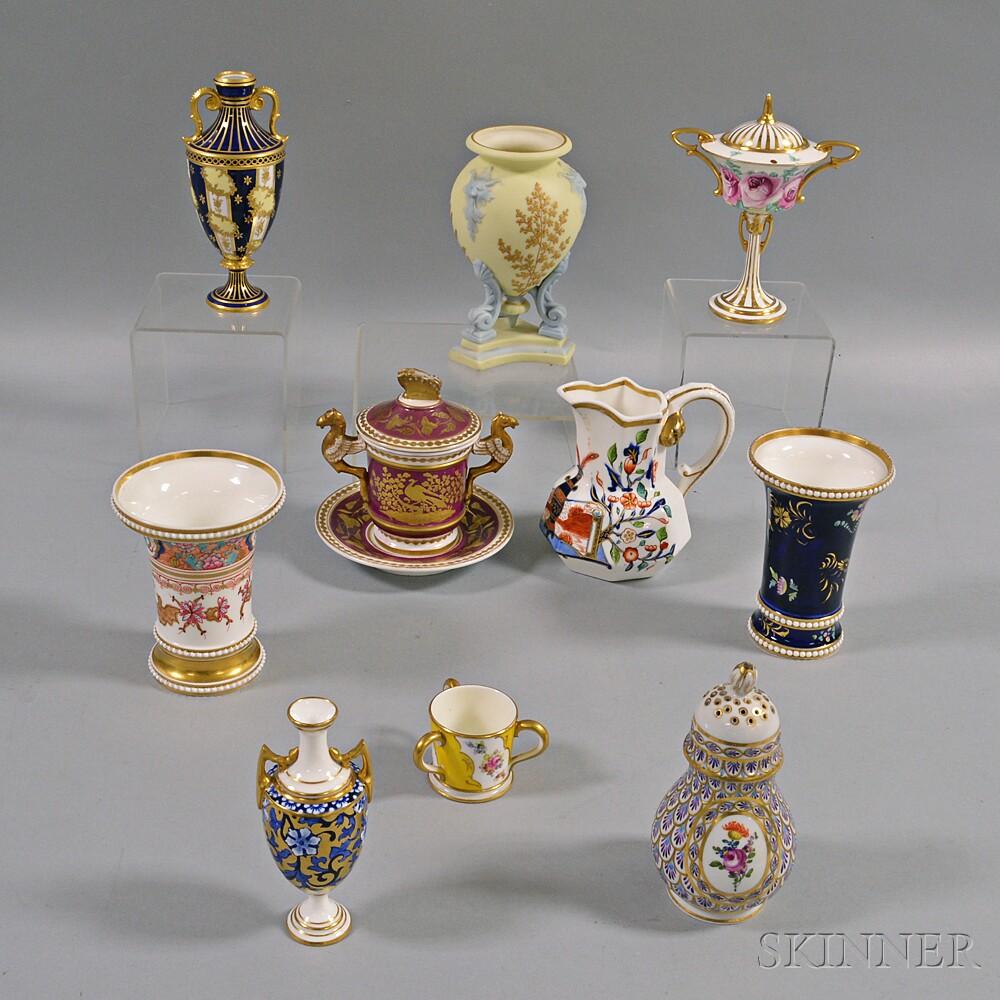 Ten English Porcelain Items