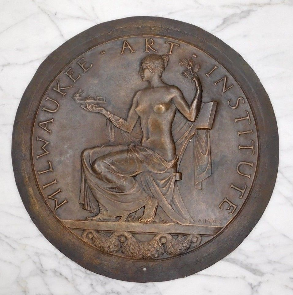 Albert Henry Atkins (American, 1888-1951) Bronze Medallion for the Milwaukee Art Institute