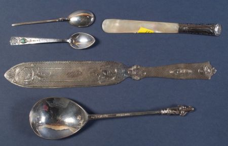 Five Silver Flatware Items
