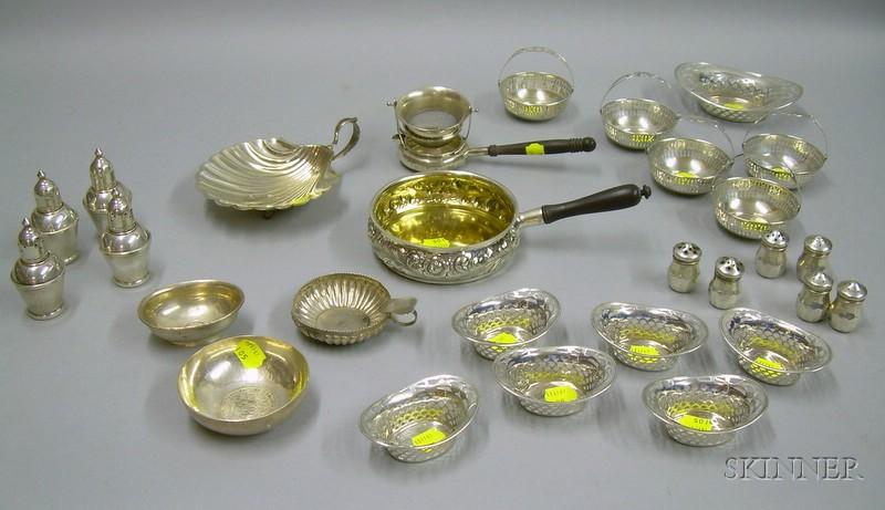 Twenty-eight Sterling Silver Tableware Items