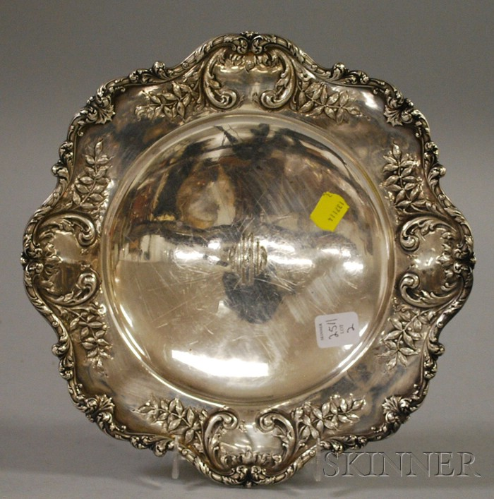 Black, Starr & Frost Sterling Silver Footed Plate