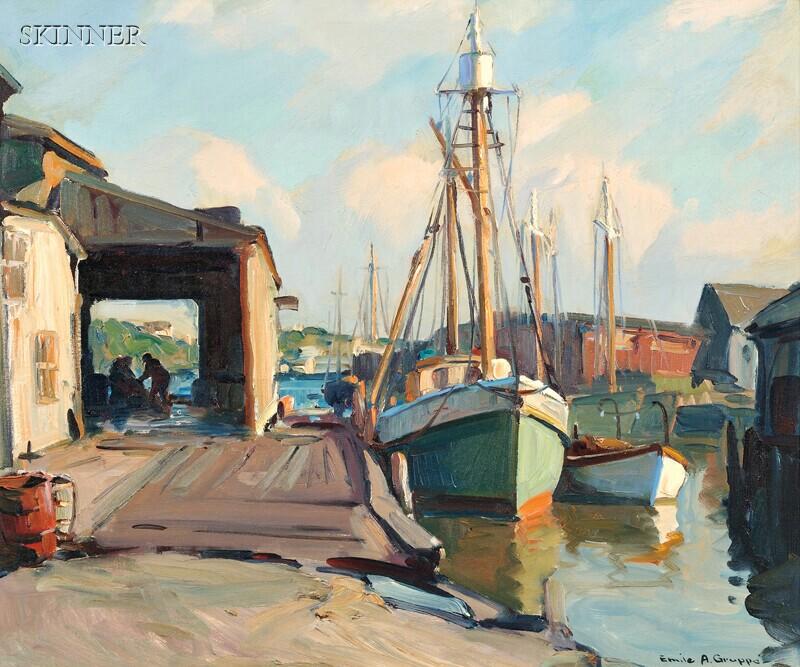 Emile Albert Gruppé (American, 1896-1978)      Gloucester Dock