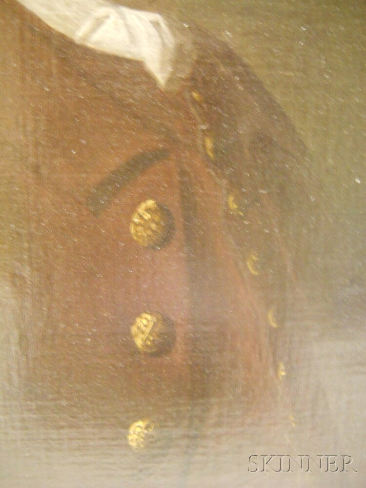 18th Century Anglo/American School Oil on Canvas Portrait of a Gentleman