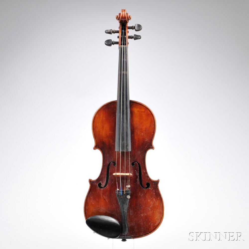 german 3 4 size violin sale number 2722t lot number 1453 skinner auctioneers. Black Bedroom Furniture Sets. Home Design Ideas
