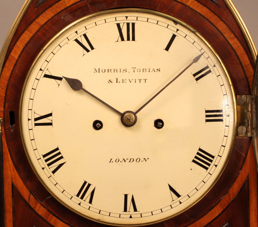 Morris, Tobias & Levitt Regency Mahogany Bracket Clock