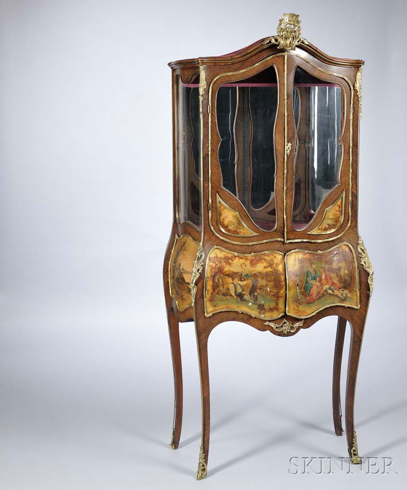 Louis XVI-style Vernis Martin Cabinet