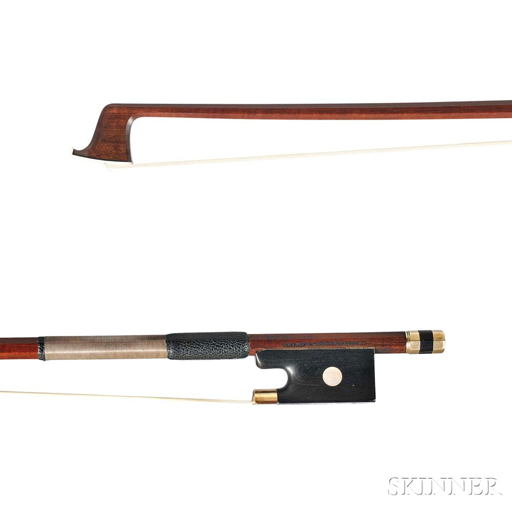 Gold-mounted Violin Bow, Carl Albert Nürnberger