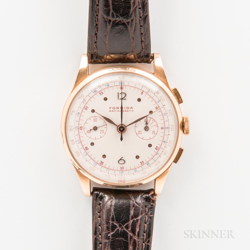 Formida Anti-magnetic 18kt Gold Manual-wind Chronograph Wristwatch